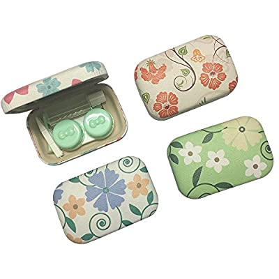 1 Piece Canvas Contact LENSE CASE Travel Container Holder OFFICE-743