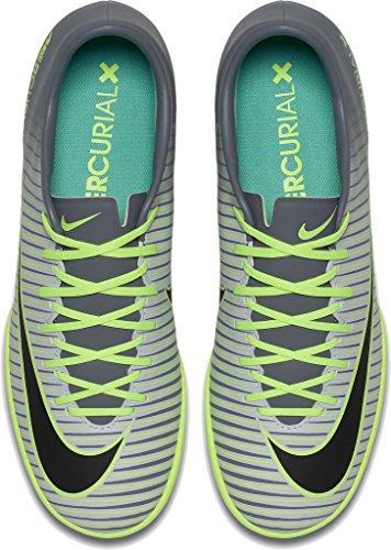 Nike Mercurialx Victory Vi Ic, Botas de Fútbol para Hombre Plateado (Pure Platinum / Black-Ghost Green)