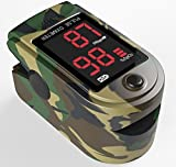 FaceLake FL420 Pulse Oximeter Camo, Carrying Case, Batteries, and Lanyard Included