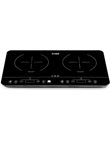 Portable Hot Plate 2 Ring Hob Table Top Twin Cooker Die-Cast Iron