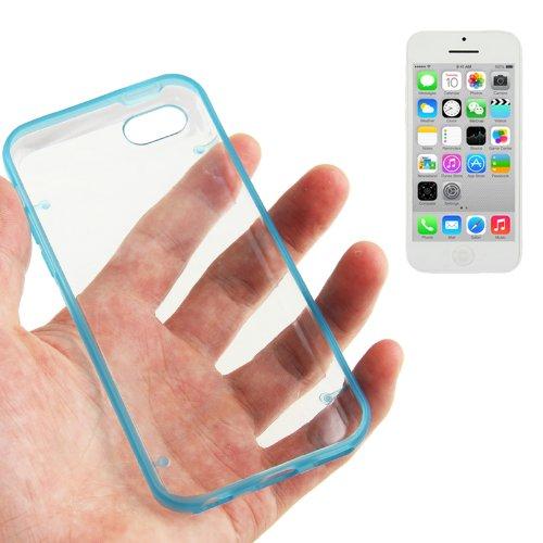 """iPhone 5C Hülle / Case / Cover in blau mit transparenter Rückwand aus hochwertigem Polycarbonat im """"Bumper-Case-Style"""" -ORIGINAL nur von THESMARTGUARD-"""