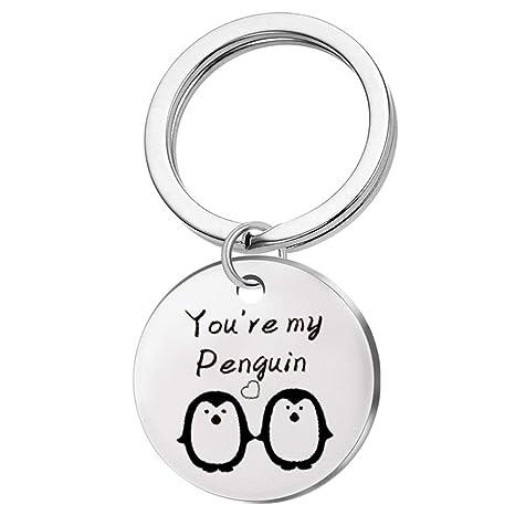 Meoliny Fashion You are My Penguin - Llavero con diseño de ...
