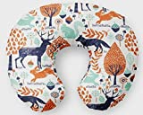 Nursing Pillow Cover in Woodland Friends Navy, Orange, Mint by Twig +Bird - Handmade in America