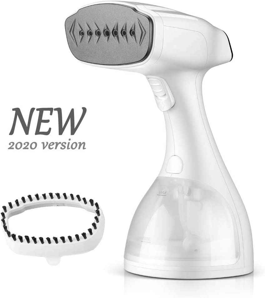 ASZ Handheld Garment Steamer Travel Steamer for Clothes with Fabric Brush 120V 1500W Fast Heating Auto Shut Off 300ml Detachable Water Tank