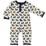 Yoga Sprout Baby Cotton Union Suit, Lions, 3-6