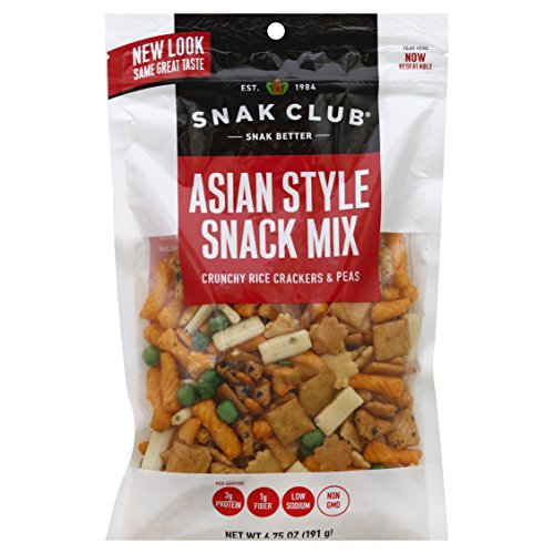 Snak Club Asian Style Snack Mix, Non-GMO, 6.75-Ounces, 6-Pack ()