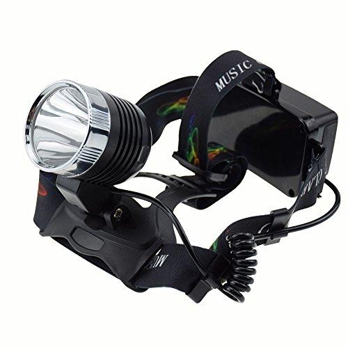 Multifunction waterproof head lamp comprehensive FM Radio,Mp3 play, Rechargeable Headlamp Headlight Head lamp + USB charger (Silver)