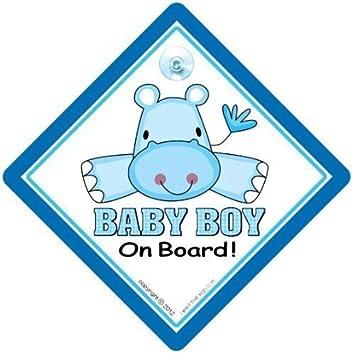 Baby An Bord Autoschild Auto Schild Schild Mit Saugnapf Enkelkind Bord Junge Blau Hippo On Board Zeichen Autoschild Stoßstange Aufkleber Baby Aufkleber Baby Schild Baby