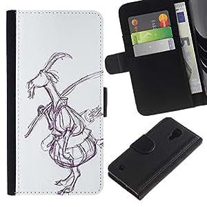 iBinBang / Flip Funda de Cuero Case Cover - Drawing Art Fairytale Forest - Samsung Galaxy S4 IV I9500
