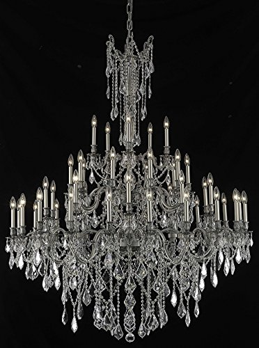 Elegant Lighting 9245G54PW/RC Royal Cut Crystal
