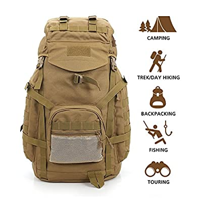 Hisea Military Tactical Backpack Large 3 Day Assault Pack Army Molle Bug Out Bag Backpacks 60L