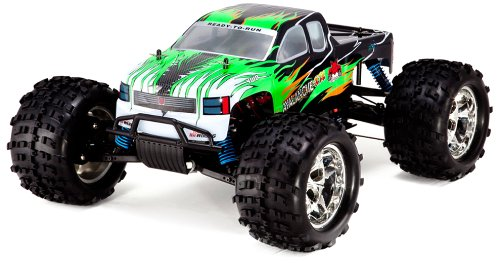 Redcat Racing Avalanche XTR Monster Truck Nitro with 2.4GHz Radio (1/8 Scale), Green/Flame, Green/Black - Rc Nitro Racing Truck