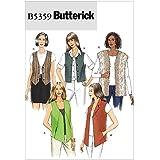 Butterick Patterns B5359 Patron de couture pour veste sans manches pour femme Blanc