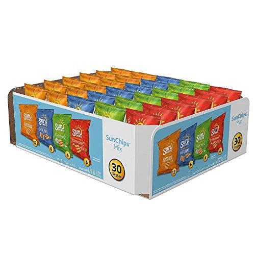 Sunchips Multigrain Snacks Variety Pack, Pack of 30 ( 2 Boxes ) ()