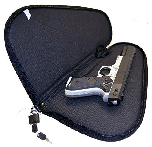 Explorer Pistol Rug Case with 1 Lock & 2 Keys Included, Black, Medium (Rug Case Pistol)