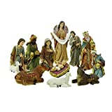 Northlight 11-Piece Holy Family and Three Kings Inspirational Religious Christmas Nativity Set