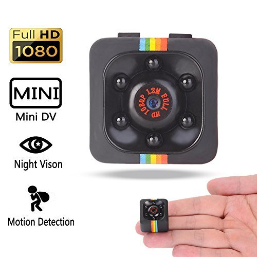 NFITtech Mini Hidden Camera HD 720P/1080P Spy Nanny Cam Body Camera Video Recorder Homme Surveillance with Night Vision Motion Detection for Indoor and Outdoor