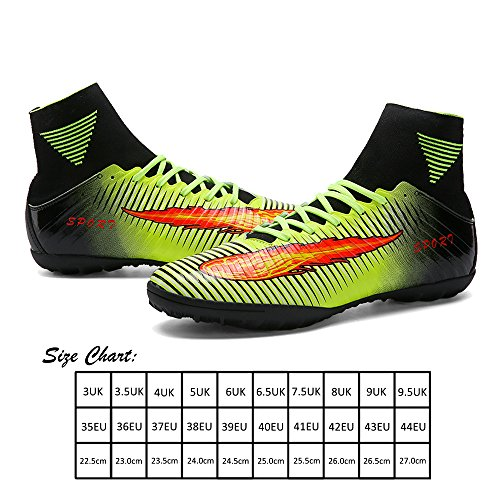High tf Chaussures De Homme vert Crampons orange Akali Top Vert Football violet 5qB4SP6w