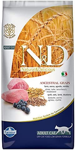 Farmina Natural Delicious Low Grain Lamb and Blueberry Adult Cat