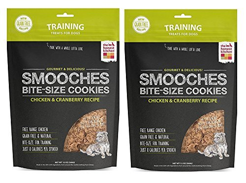 The Honest Kitchen Smooches: Natural Grain-Free Dog Training Treat Cookies, 24 ounces