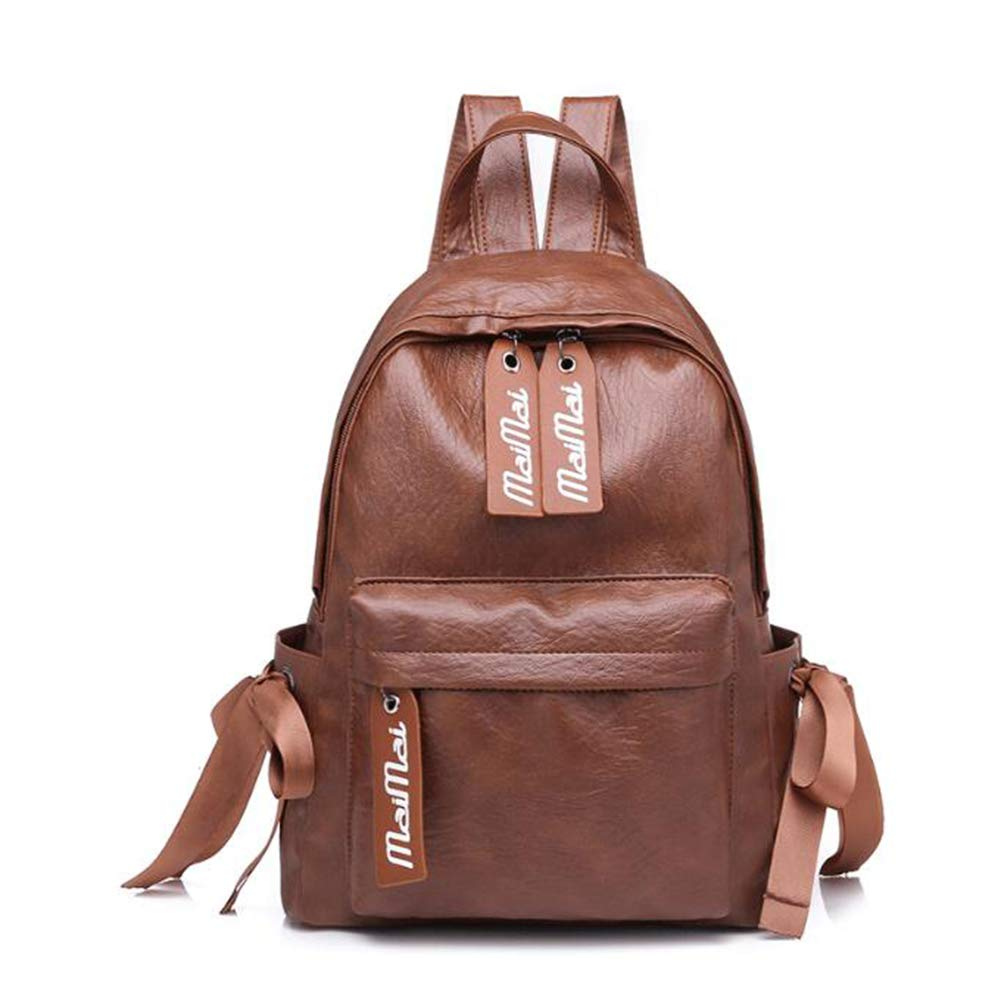Qzny Womens Backpack Color : A, Size : 342814cm Fresh Shoulder Bag Female Bow Design Tide Bag Soft Pu Personality Leisure Travel Bag Backpack Travel Shopping Outdoor
