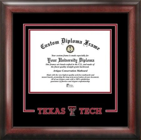 Campus Images TX960EXM Texas Tech University Executive Diploma Frame, 11
