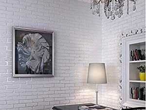 Wall Papers White Brick Wallpaper, Wallpaper Bedroom Living Room TV Wall 3D Brick  Wallpaper Part 56
