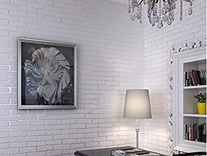 Wall papers White brick wallpaper, wallpaper bedroom living ...