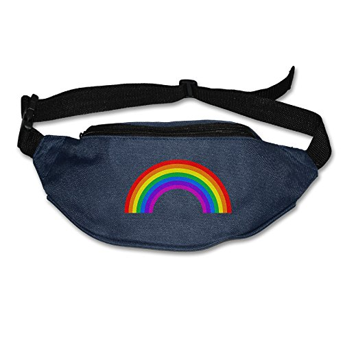 Price comparison product image Caromn Mens&Womens Rainbow Waist Bag Pack For Sports Travel Running Hiking I Phone 7