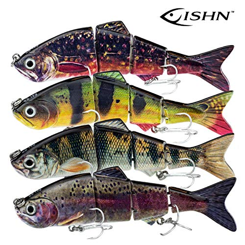 FISHINGGHOST Fishing Lure Swimmbait Candy, Length: 4.7inch, Weight: 0.63oz, Swimbait Lures/Musky Fishing Lures for Fishing for Predatory Fish Such as Musky, Catfish, Walleye and Cod