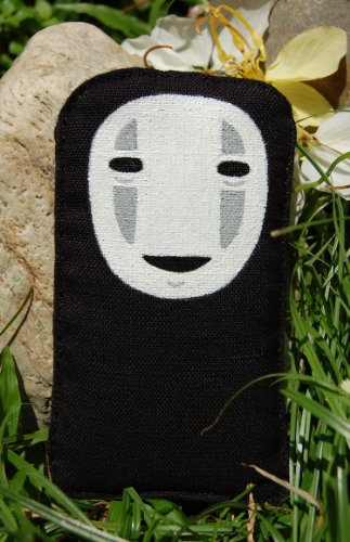 Spirted Away Iphone 5 Soft Case Fit with 4 4s 3 3gs Black No Face Faceless Hand Painted (Spirited Away Ipod 4 Case)