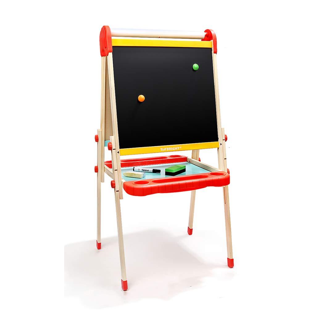 黒板ブラケットタイプ 家庭用両面子供用ドローイングボード 磁気書き込みボード学習ボード (Color : Wood color, Size : 49 * 44cm) 49*44cm Wood color B07GZM5J2W