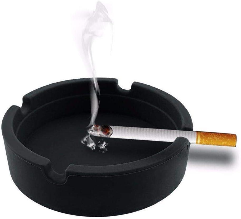 Depory Ceniceros de Silicona Soft Eco-Friendly Pocket Ronda shatterproof Cigar cintur/ón de Goma de Silicona para Hombre,Negro