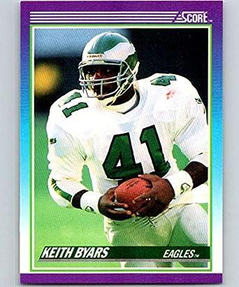32f0227ec0a Amazon.com: 1990 Score #159 Keith Byars Eagles NFL Football ...