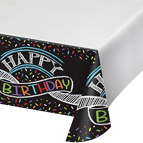 Chalk Party Border Print Plastic Table Cover -