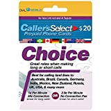 $20 Caller's Select Choice Phone Calling Card for