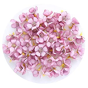 ALWAYS ME Multicolor Daisy Flower Head Mini Silk Artificial Flower for Wedding Home Decor Garland Headdress,Purple 27