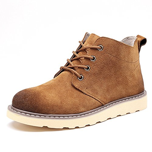 Men's Shoes Feifei Winter Leisure Martin Boots 3 Colors (Color : Brown, Size : EU39/UK6.5/CN40)