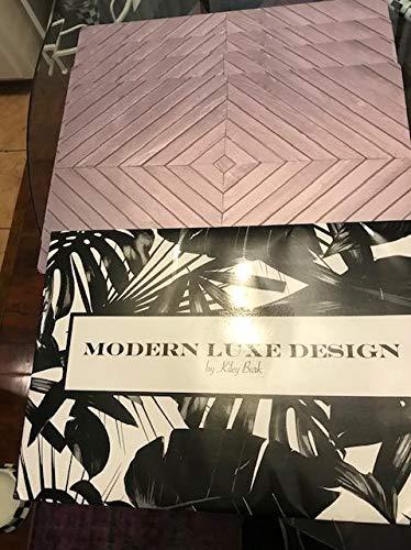 Grey Art Deco Wood Print Design Placemats Set of 4