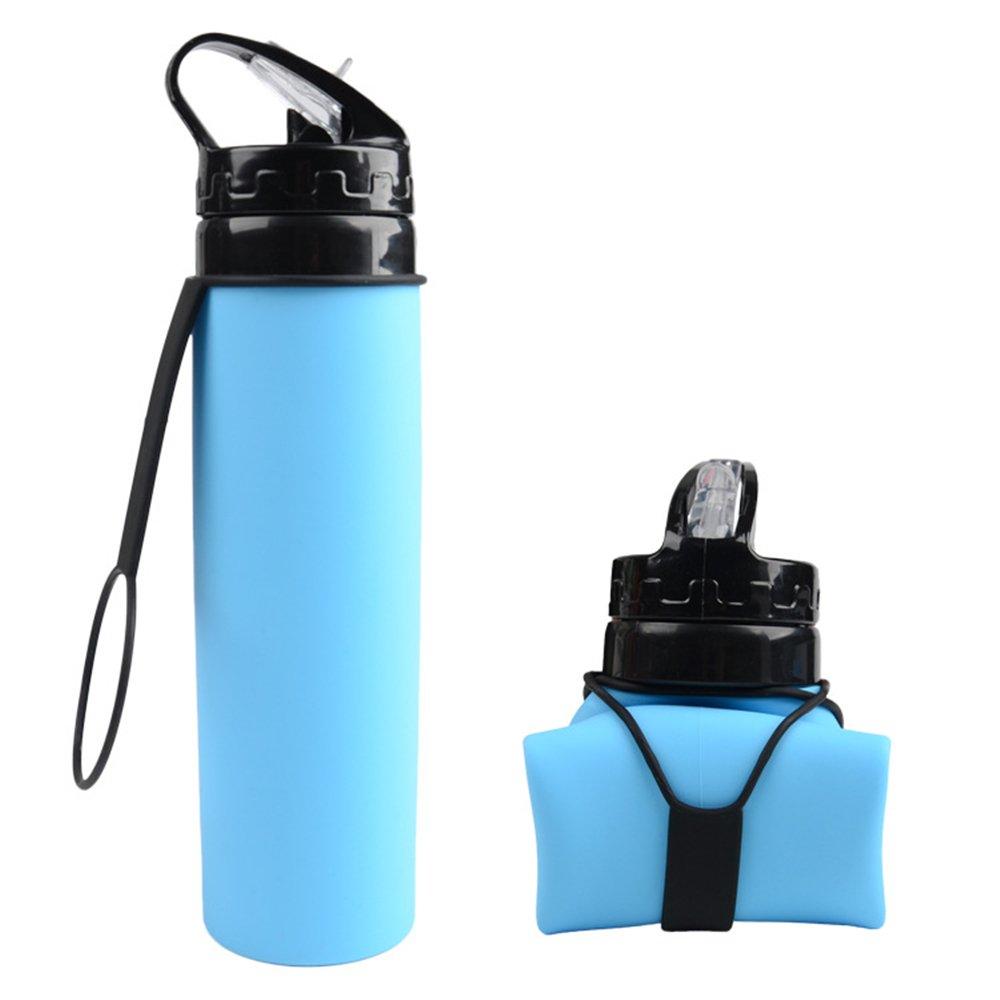YEISEE 折りたたみキャンプカップ 温度感度の高い色変化保護 ハイキング キャンプ ピクニック すべての人の携帯用漏れカバーデザイン - 軽量持ち運び (ブルー)   B075SYVT1D