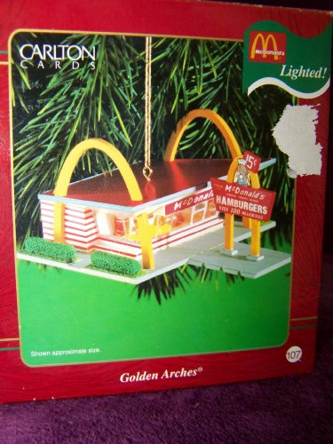 McDonalds Golden Arches Lighted Christmas Ornament by Carlton Cards ()