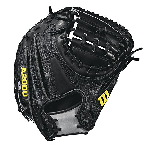 Wilson 2018 A2000 M2 Ss Catcher's Baseball Mitts - Right Hand Throw Black/Grey, (Preferred Baseball Catchers Mitt)