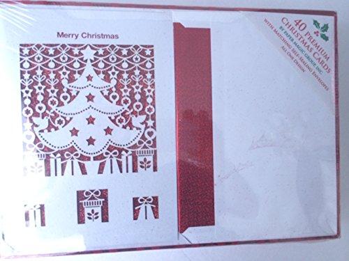 40 Peremium Christmas Cards- Merry Christmas