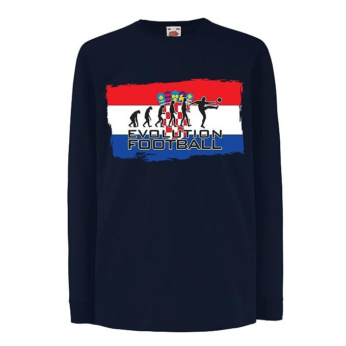 lepni.me Niños/Niñas Camiseta La Evolución del Equipo Nacional de Fútbol de Croacia, Copa Mundial 2018 Rusia: Amazon.es: Ropa y accesorios