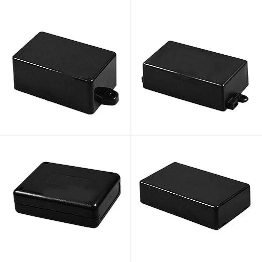 Construcción de plástico extruido de gran calibre Proyecto de cubierta de plástico impermeable Caja de caja de instrumento electrónico Caja de caja/Negro / 90 * 70 * 28: Amazon.es: Iluminación