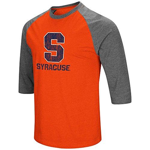 Colosseum Mens Syracuse Orange 3/4 Sleeve Raglan Tee Shirt - M