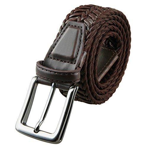 Samtree Braided Belts for Men,Leather Web Belt Buckle Fully Adjustable(49