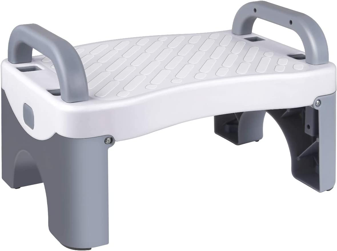 Kids Foldable Foot Stool Toddler Stool for Toilet Potty Training with Anti-Slip Grips
