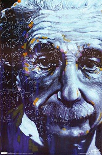 Albert Einstein - Artistic Formulas 36x24 Art Print Poster 2