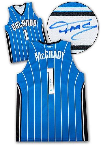 new styles 8711b 2b481 Tracy McGrady Orlando Magic Autographed Custom Basketball ...